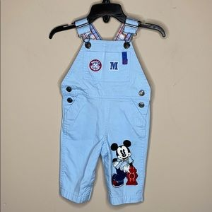Disney 0-3 Month Mickey Mouse Corduroy Overalls